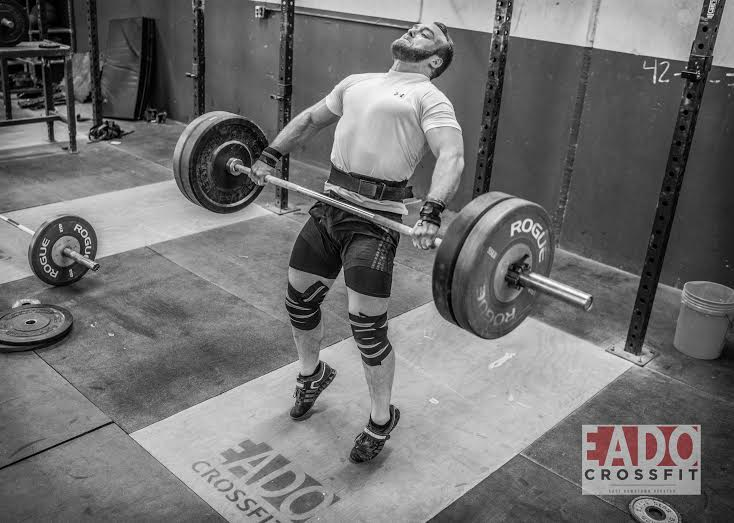 EaDo Elite Athlete Rodrigo Salas performing a snatch.   Photo Credit:  Sierra Prime