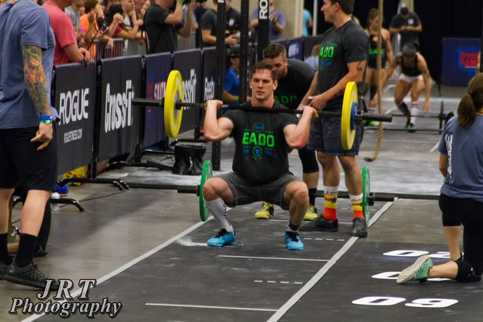 EaDo Elite coach Connor Martin at regionals during WOD 2   Photo Credit: JRT Photography