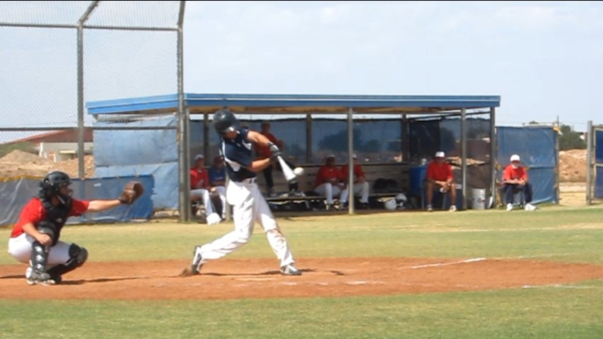 Kevin at bat during a game.