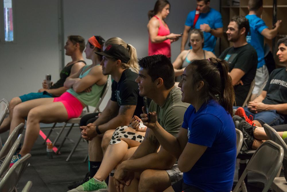 Athletes gathering for the EaDo Elite Camp  Photo Credit: Morteza Safatja