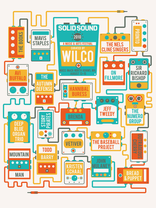 Wilco's Solid Sound 2010 Poster  art direction, design + illustration