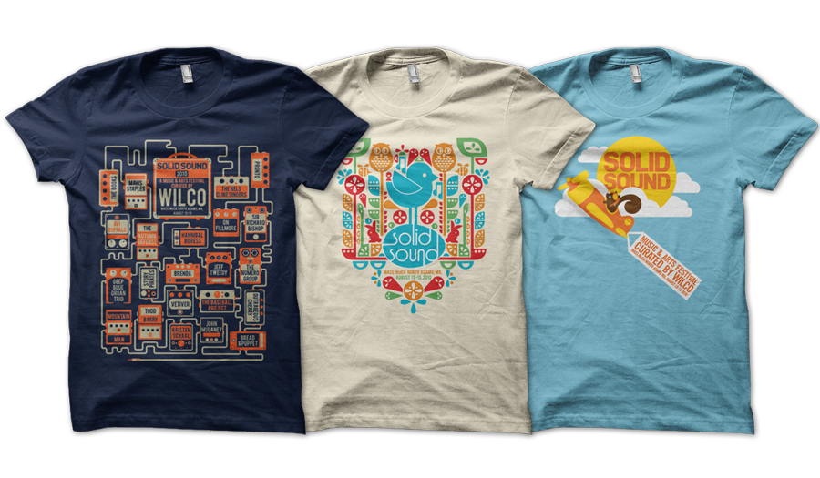 Wilco's Solid Sound 2010 Apparel  art direction, design + illustration
