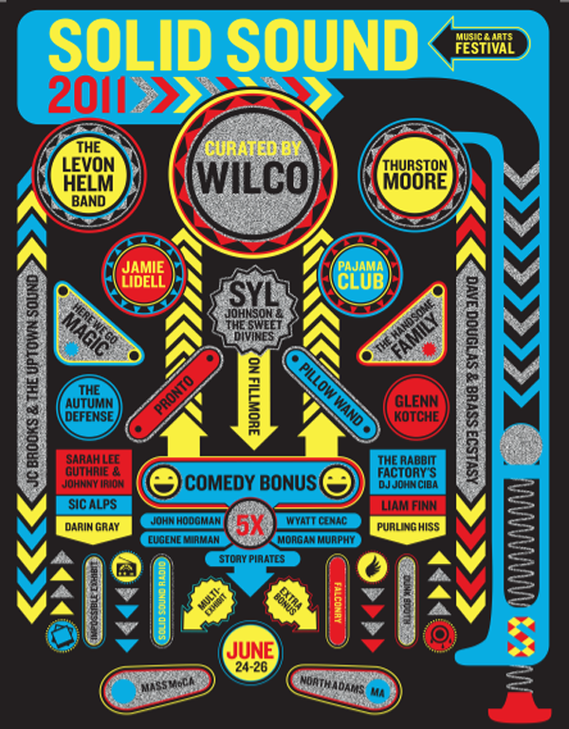 Wilco's Solid Sound 2011 Poster  art direction, design + illustration
