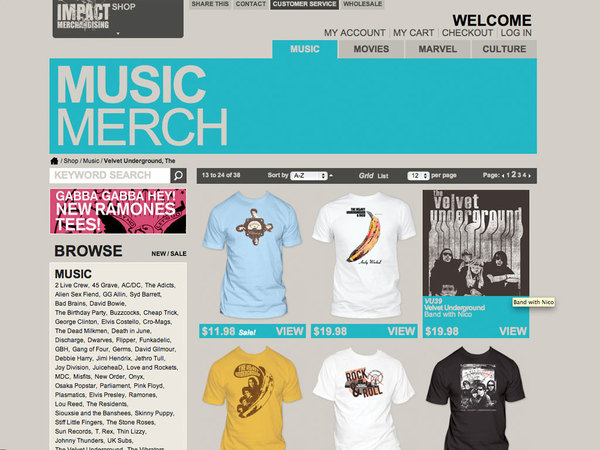 music category page | impact redesign
