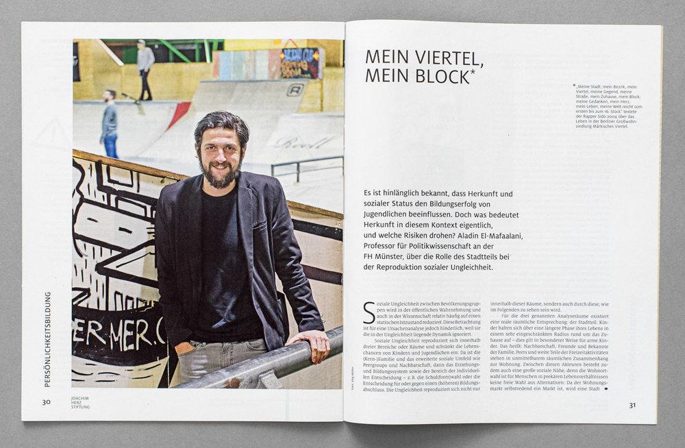 """Beilage der ZEIT, """"Aufbrüche"""" / Magazin der Joachim Herz Stiftung, Politikwissenschaftler Aladin El-Mafaalani"""