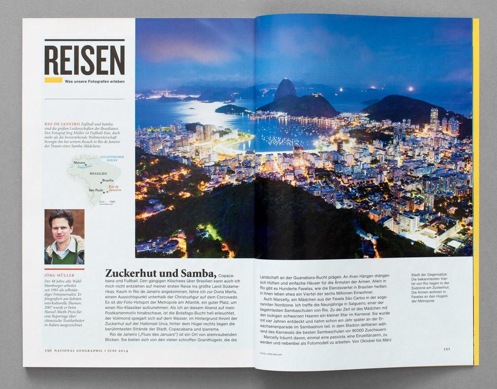 National Geographic, Erfahrungbericht über eine Reportage in Rio de Janeiro