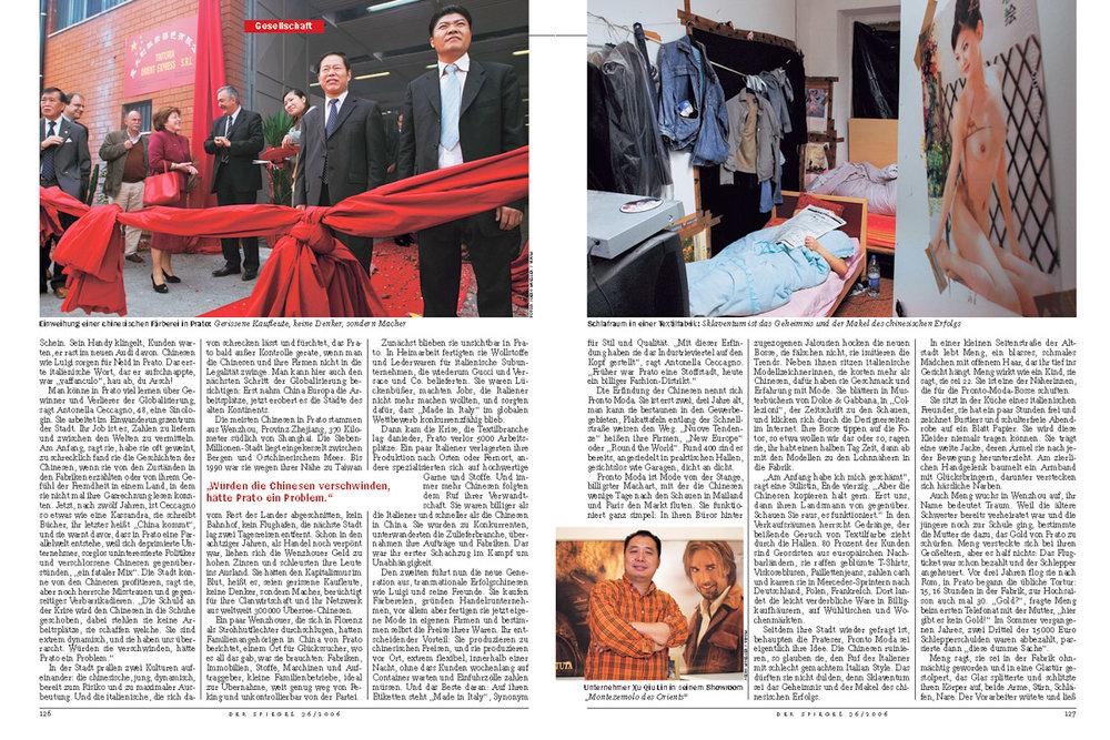 DER SPIEGEL, Reportage über das größte China-Town in Europa, ausgezeichnet beim Hansel-Mieth-Preis