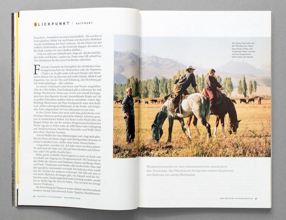 National Geographic, Reportage über ein deutsches Dorf in Kirgistan