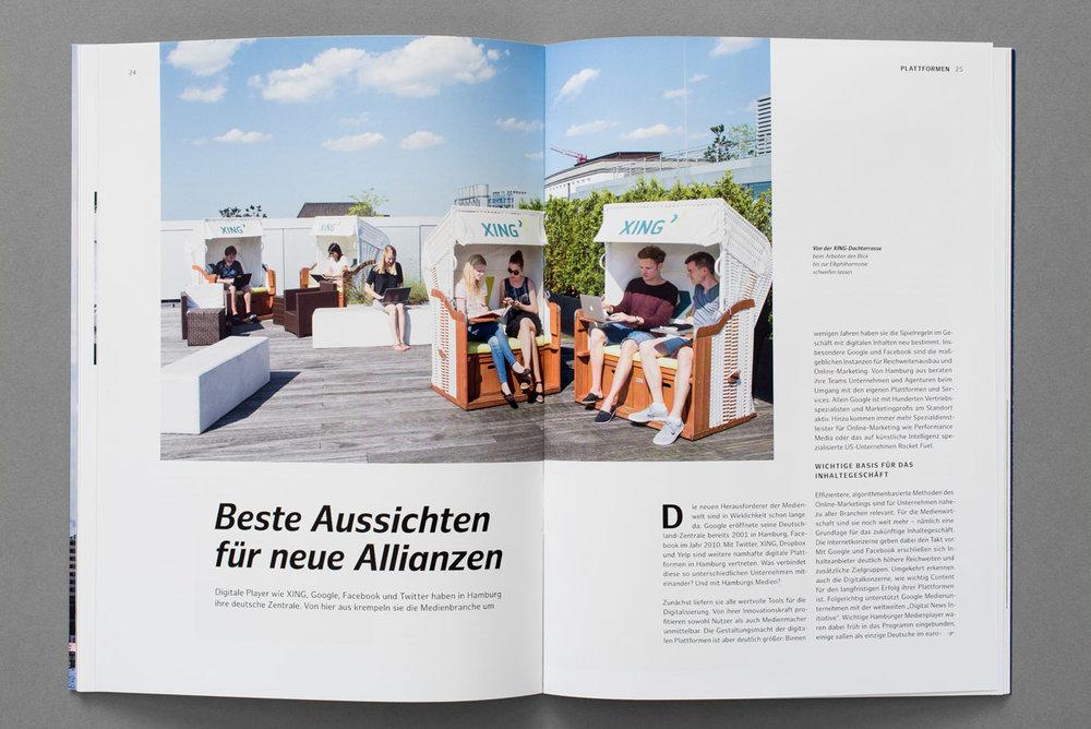Medienbroschüre für die Stadt Hamburg, XING