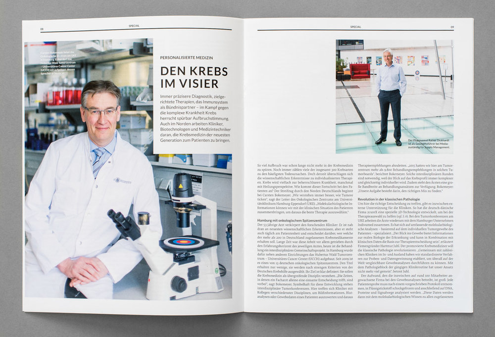 Portraits zum Thema Krebs für das Magazin von Life Science Nord