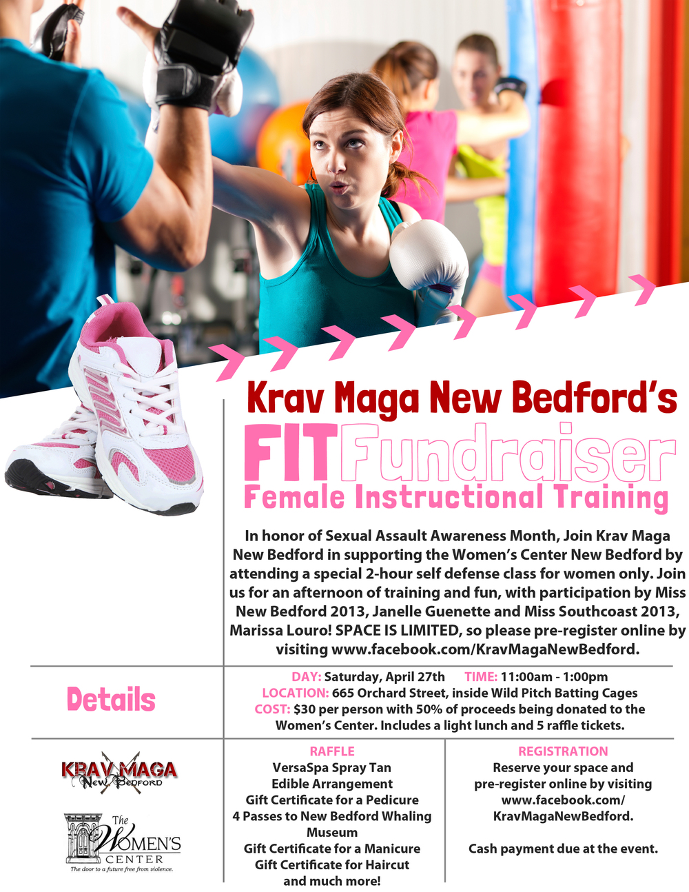 FITFundraiser Flyer for Krav Maga New Bedford