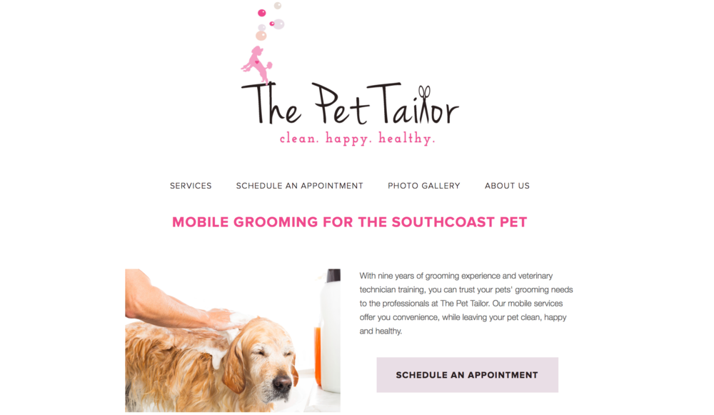 The Pet Tailor: Logo and Web Design