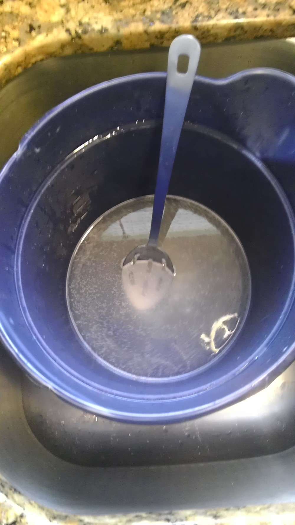 Dissolve Borax and Super Washing Soda in warm water