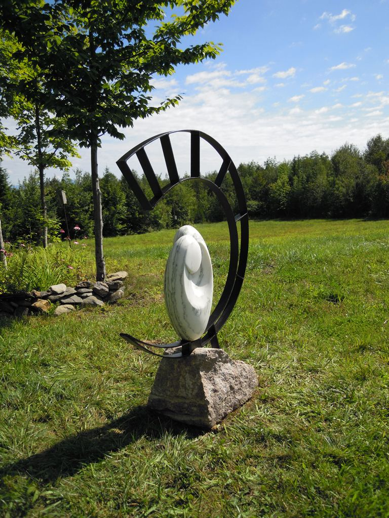 Spirit Sustained - 56 x 44 x 16 inches - VT Pavanozzo marble with steel - private collection