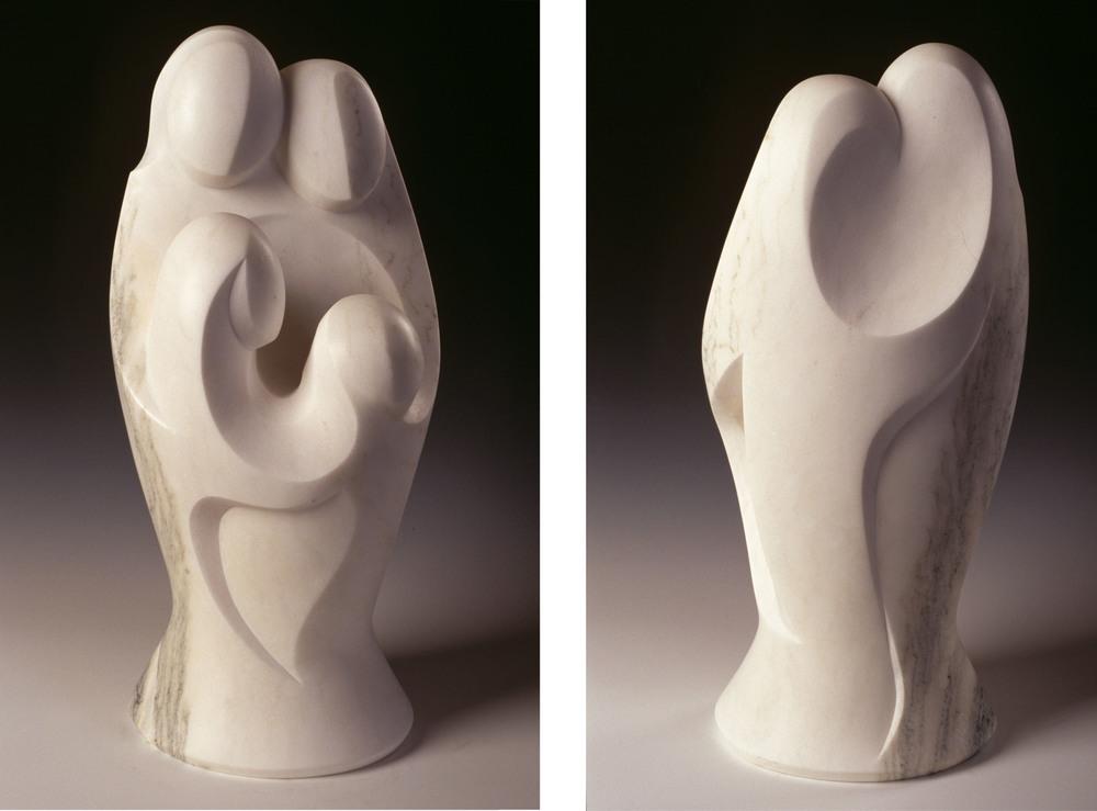 Family Bond - 22 x 10 x 10 inches - W. Rutland white marble