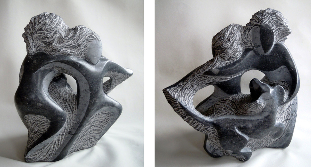 Carefree - 17 x 16 x 7 inches - Champlain Black marble - private collection