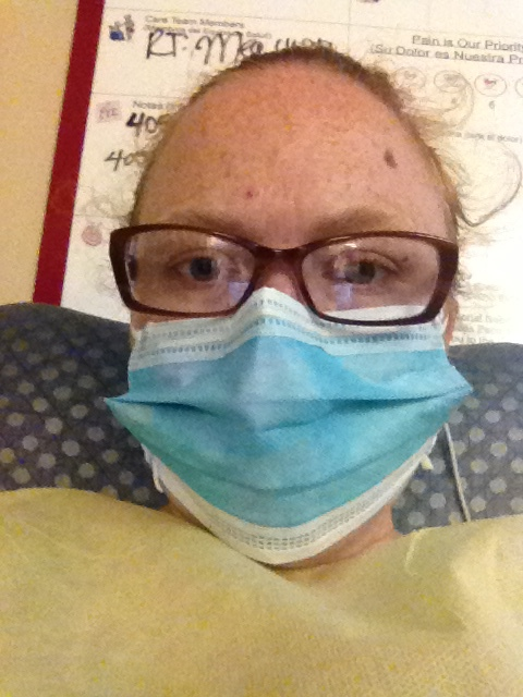 More infections and viruses found so now we have to wear masks and gowns for her protection and other kids in hospital.