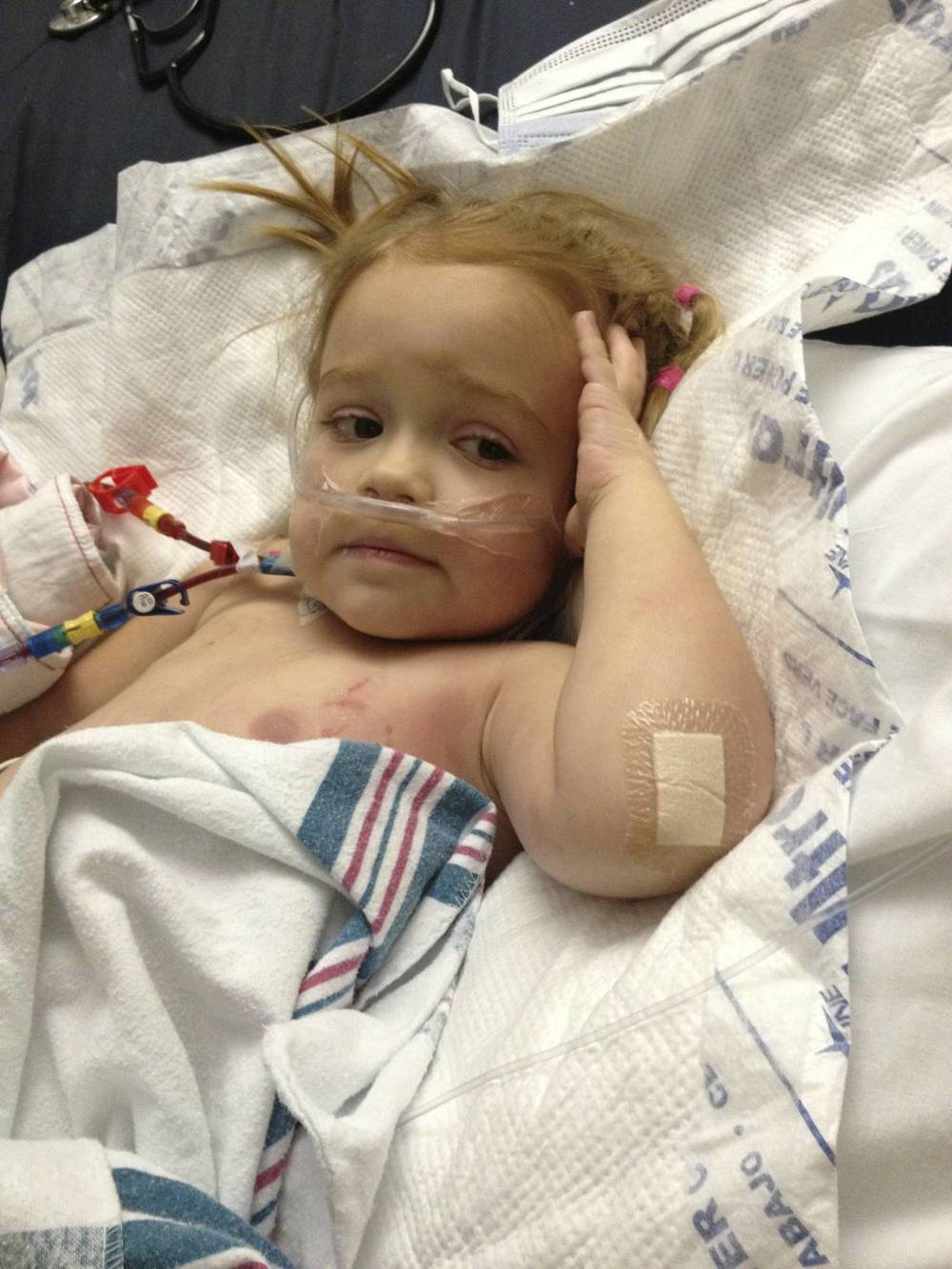 You wake up but we stay in the PICU until 8/23