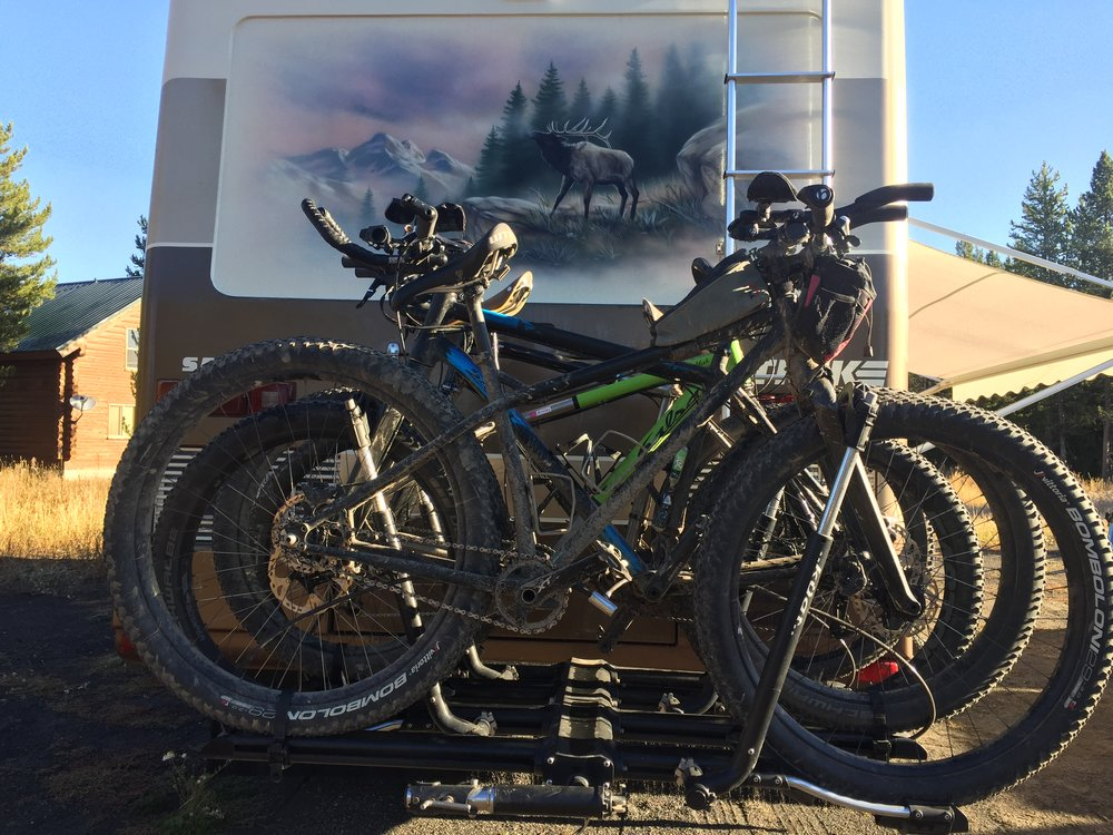 The trusty steeds loaded up and ready to head home.