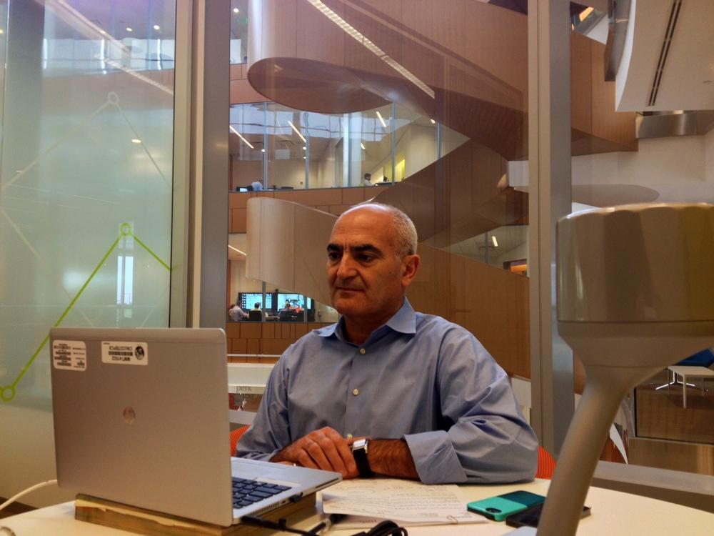 Dr. Moncef Slaoui, Head of Global R&D, Skyping with CNN