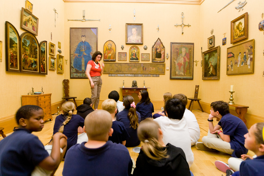 Students from the School District of Philadelphia learn about art as Dr. Albert Barnes intended. Photo courtesy The Barnes Foundation