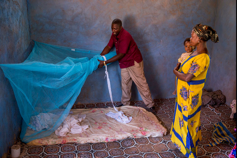 Something as simple as a bed net is a mighty tool against disease-baring mosquitoes.