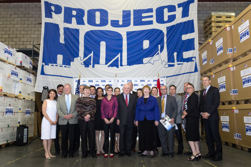 Project HOPE with Department of State and NGO partners
