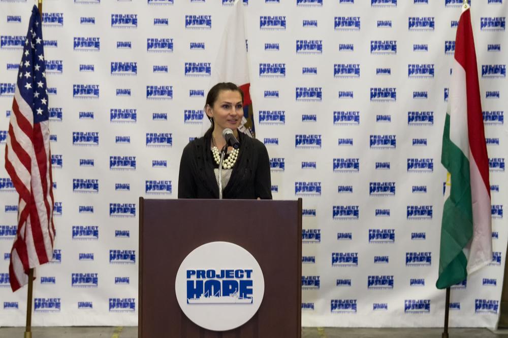 Edyta at the podium