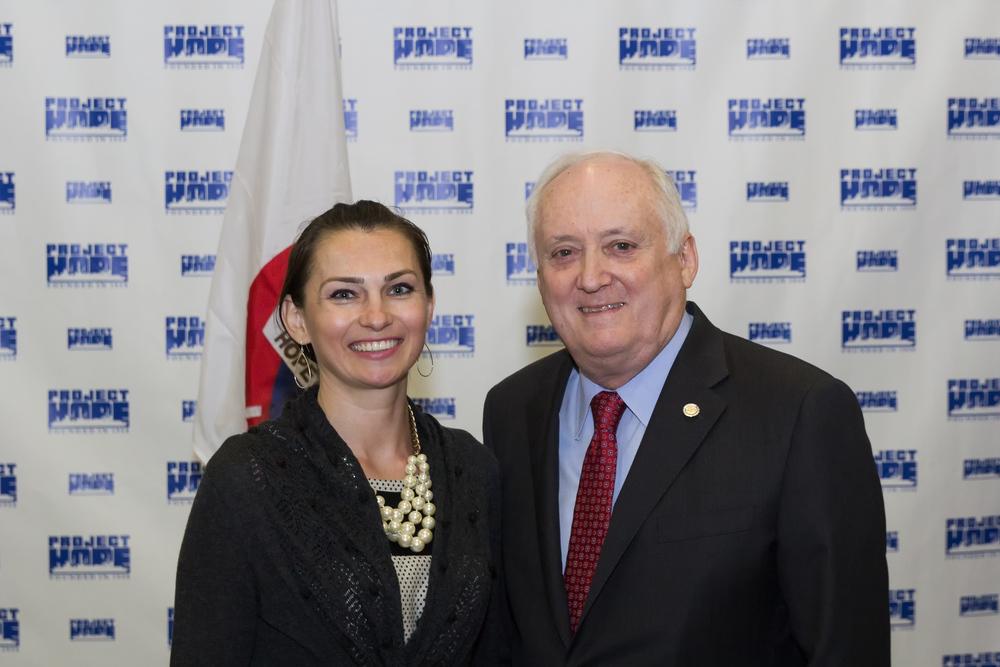 Edyta with Dr. John P. Howe III