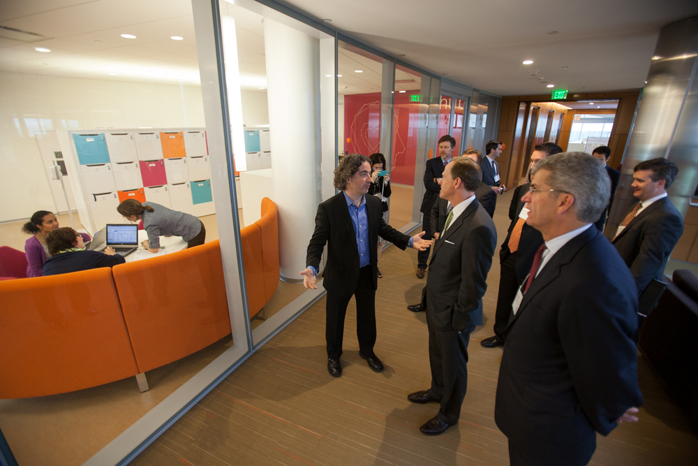Senator Toomey takes a tour of our new digs at the Philadelphia Navy Yard