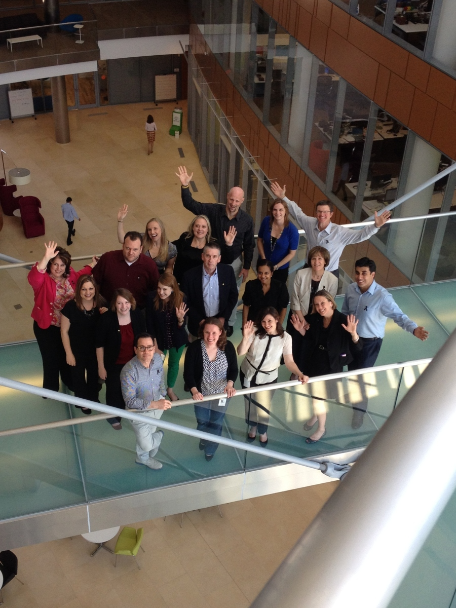 Melanoma bloggers, advocates, and GSK employees gathered at our Philadelphia Navy Yard office.