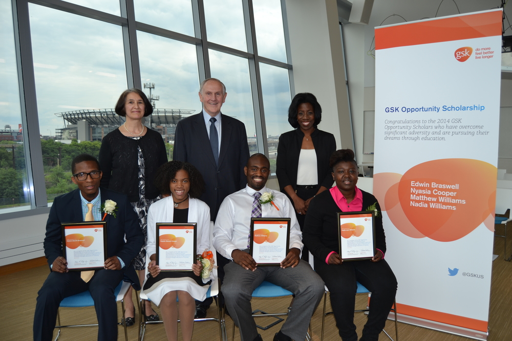The Philadelphia winners of the 2014 GSK Opportunity Scholarship.