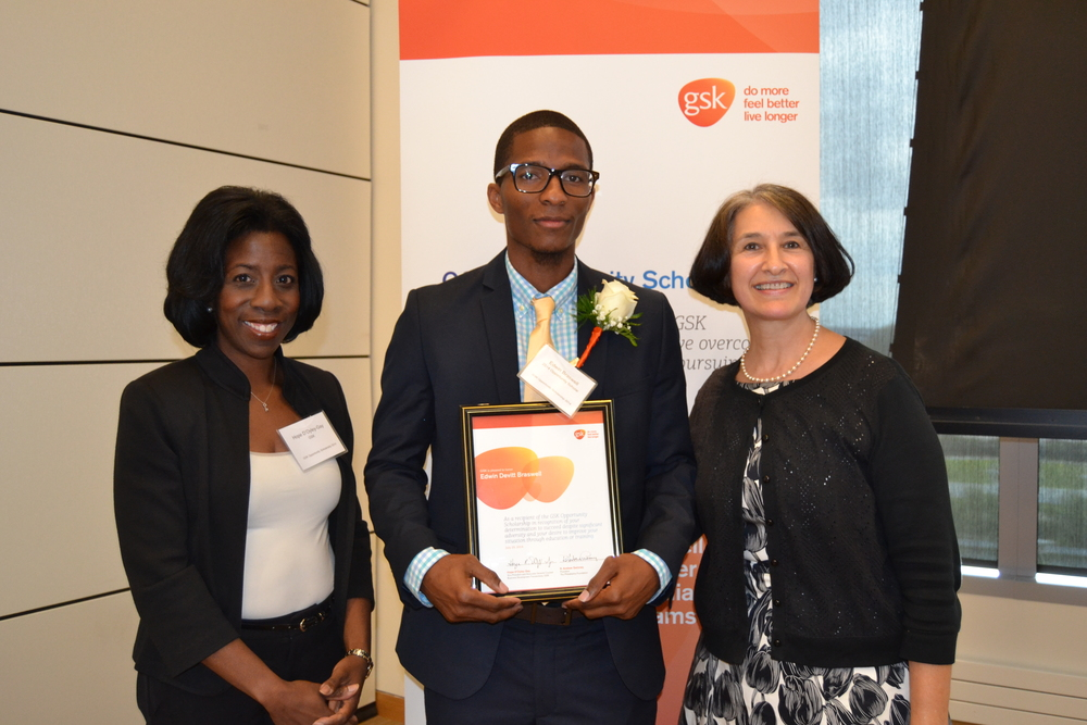 GSK Opportunity Scholar, Edwin Braswell, is studying biology at Cheyney University.