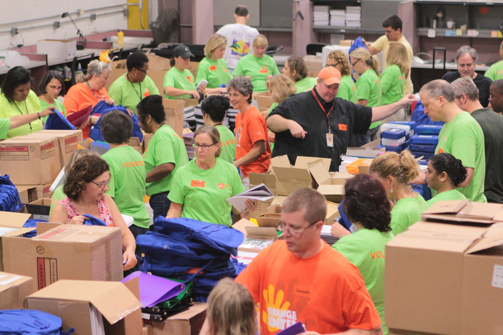 The Durham Rescue Mission held its 15th Annual Back to School Party and Cookout for at-risk children last week in Durham, NC. To prepare for the event, over 150 GSK volunteers worked at the event and in advance to unload and pack school supplies into backpacks.