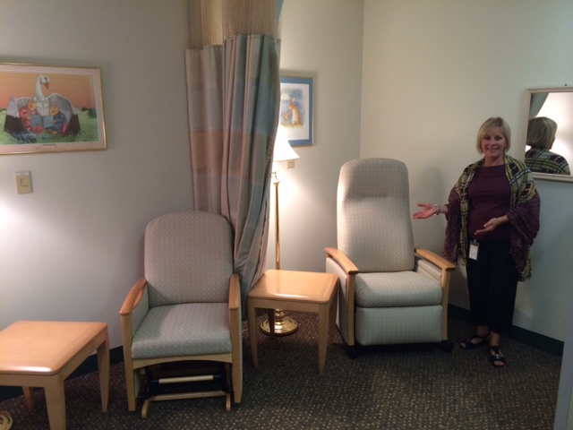 Here I am in a lactation suite located on our Upper Providence campus.