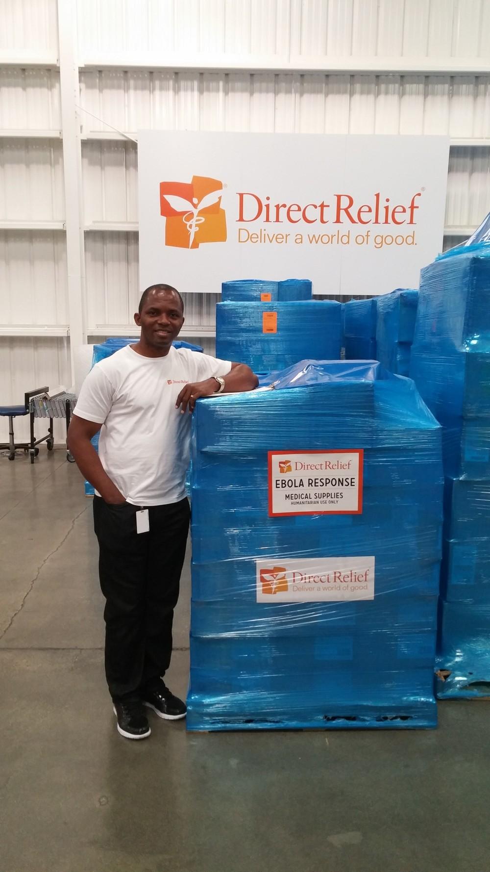 Nigerian Peter Albert is a GSK volunteer working with Direct Relief.