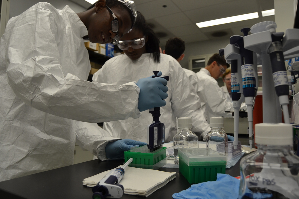 Philadelphia-area high school students visited our labs recently to learn about science careers.