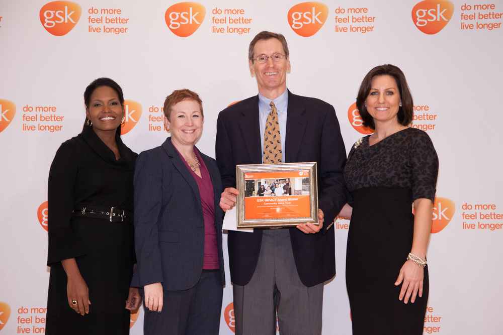 Robert Dowling, Executive Director ofCommunity Home Trust, accepted the award on behalf of the nonprofit.