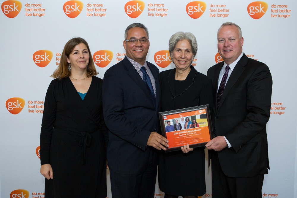Barbara Mattleman, Graduate Network Inc, accepted the IMPACT award on behalf of the organization