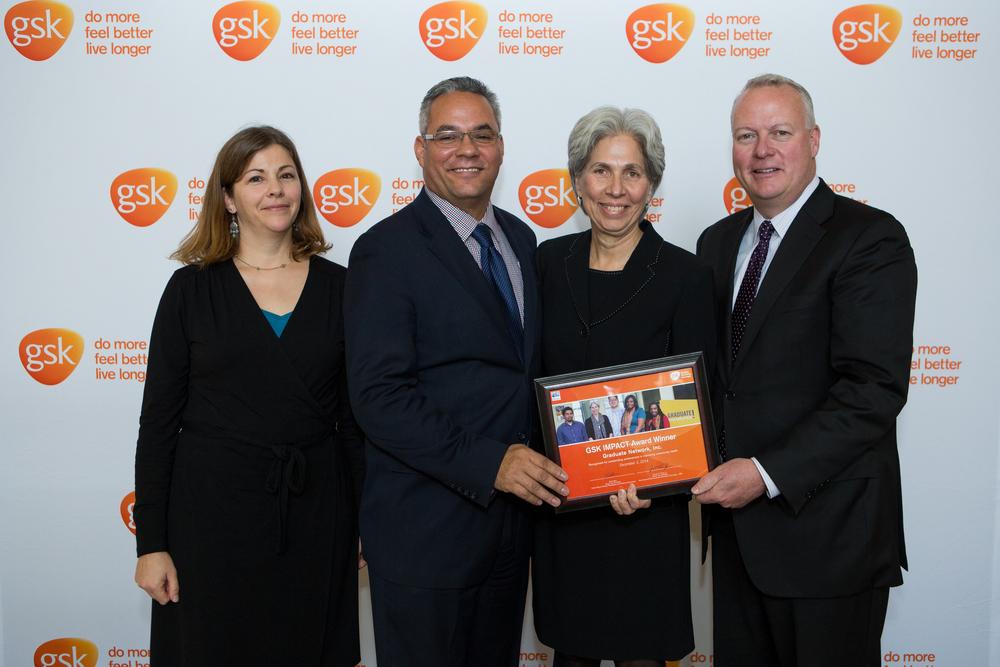 Barbara Mattleman, Graduate Network Inc, accepted the IMPACT award on behalf of the organization