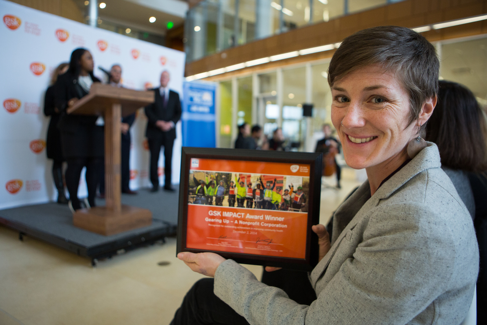 2014 PHL Kristin Gavin, Gearing Up - A Nonprofit Corporation, accepted the IMPACT Award on behalf of the organization