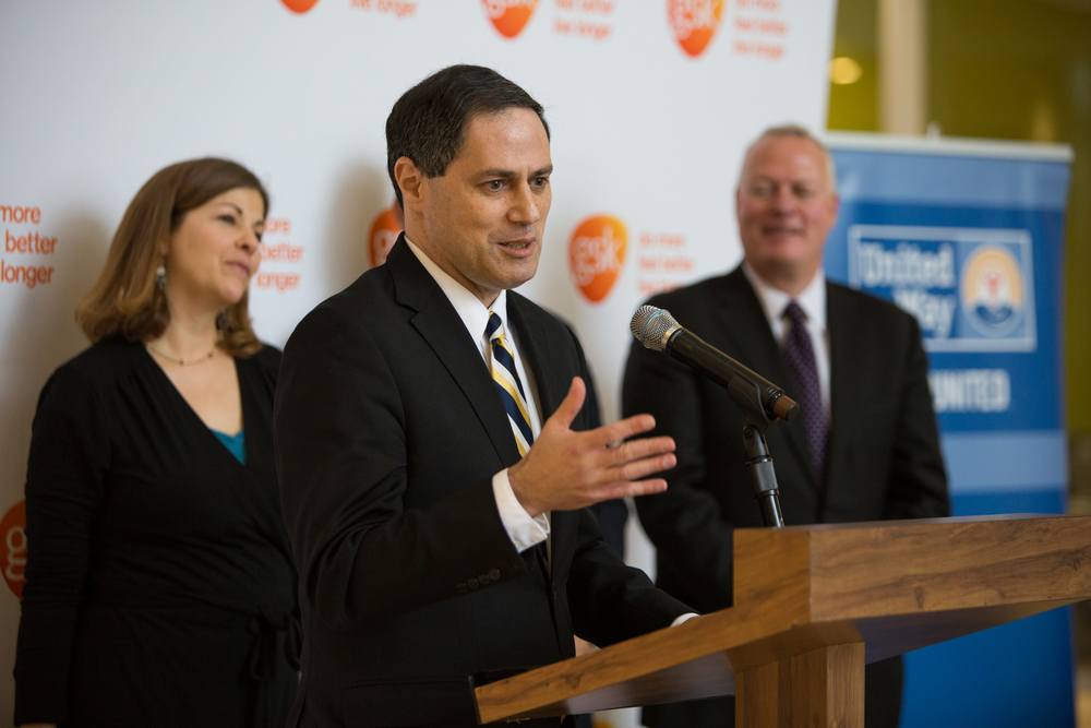 Matt Bergheiser, University City District, accepted the IMPACT award on behalf of the organization