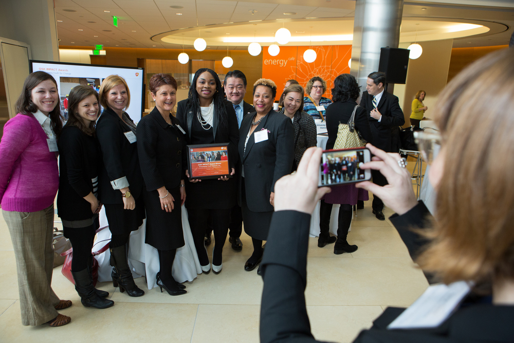Philadelphia Youth Network Inc. posed for a picture after the GSK IMPACT Award ceremony