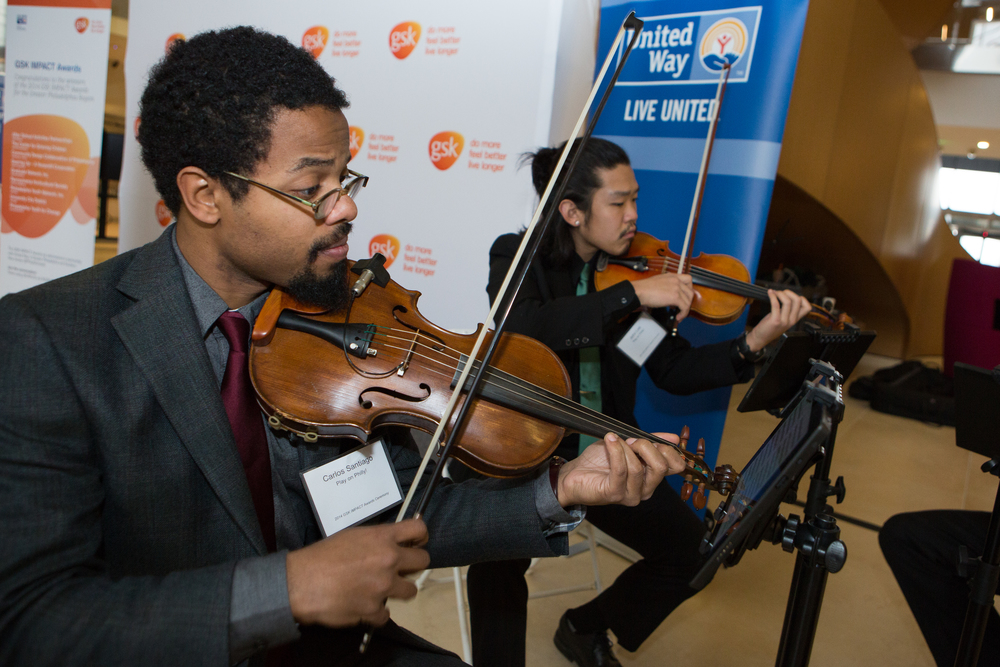 Play On Philly provided musical accompaniment when winners were called up to accept their GSK IMPACT award