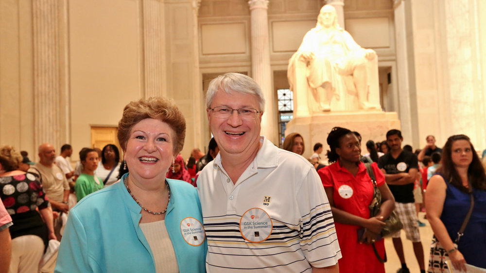 I grabbed a picture with long-time GSK Science in the Summer teacher, George Hight, in front of the Benjamin Franklin National Memorial at The Franklin Institute. Here are a few pictures of other GSK Science in the Summer™ teachers.