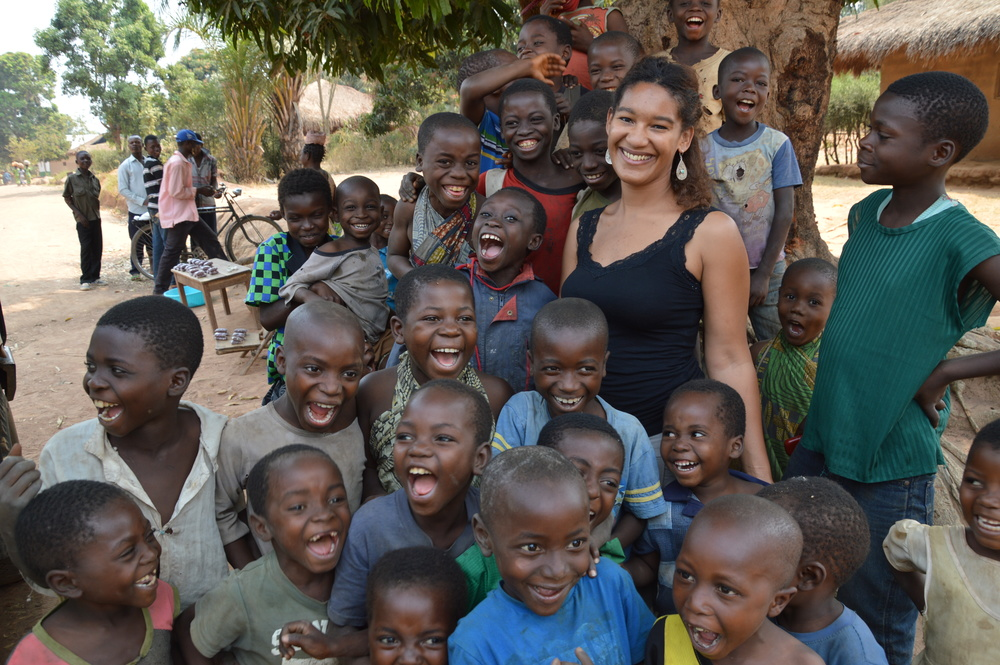 GSK PULSE volunteer, Laure Benjamin, in the Democratic Republic of the Congo