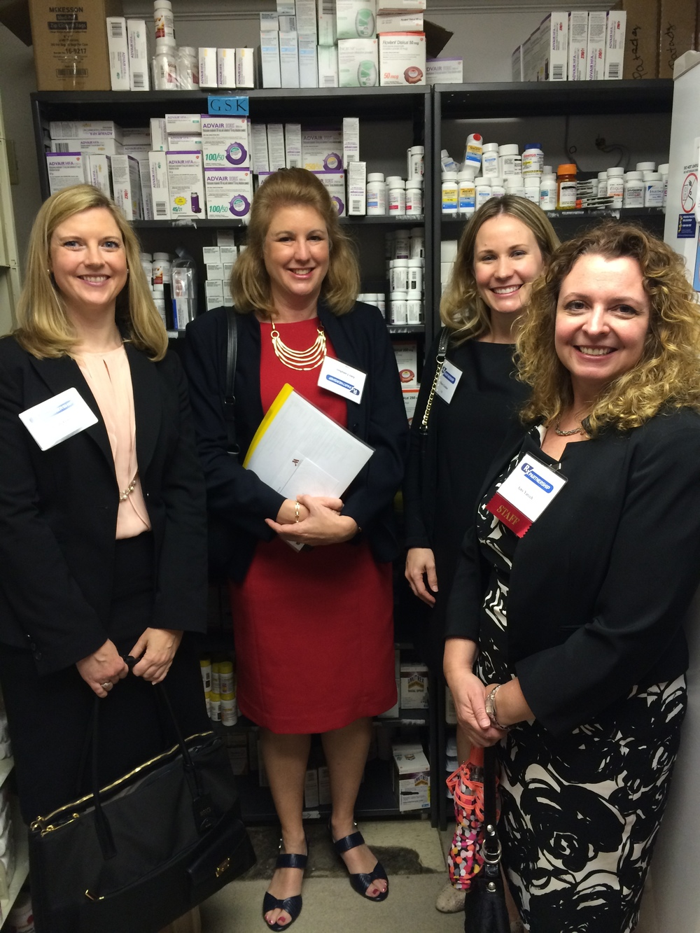 The Rx Partnership team and GSK representatives visiting a pharmacy