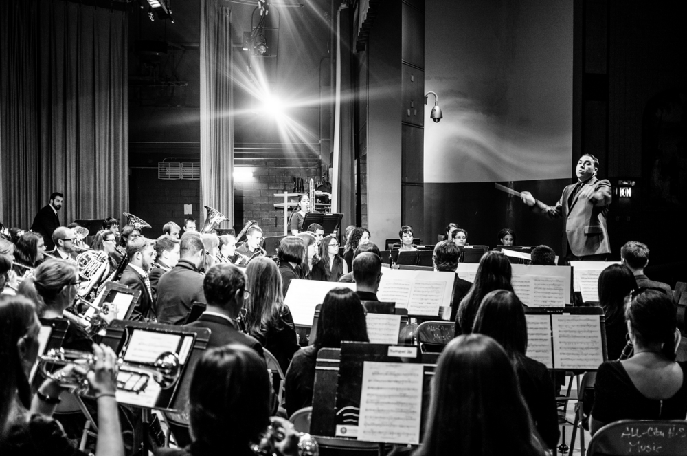 Brian Worsdale conducting Grand Street Community Band  by Christopher Rushing