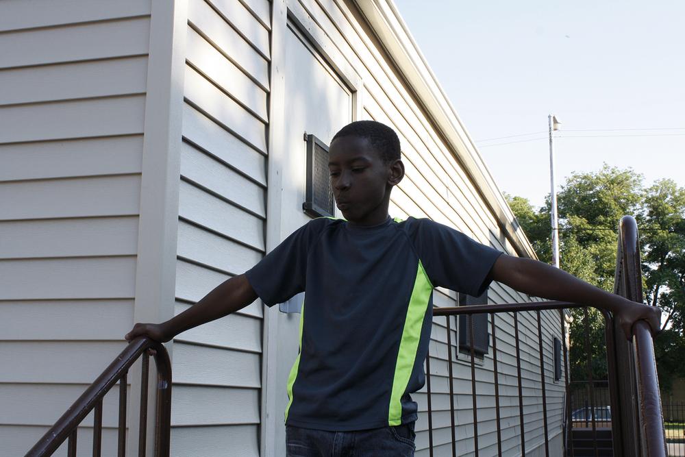 Young boy, George Leland Elementary