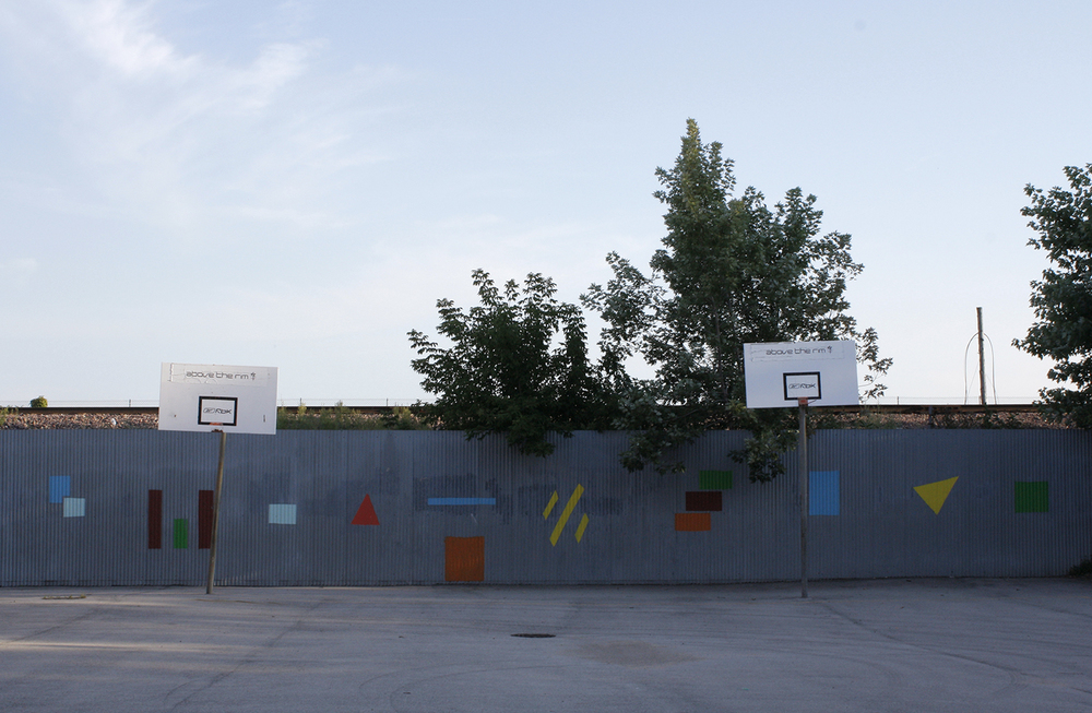 Basketball court at Laura S. Ward Elementary